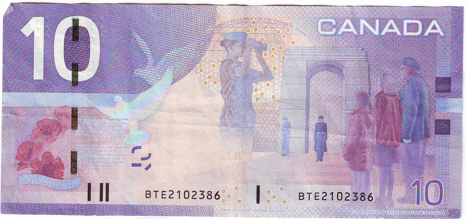 Papiers monnaies au canada